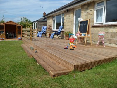 Holiday Home Rear Garden Decking